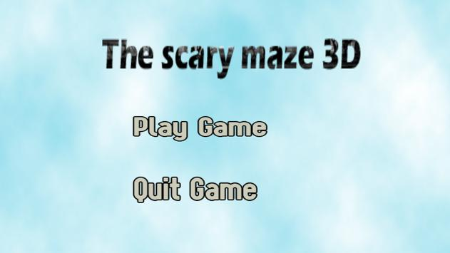 The scary maze 3D poster