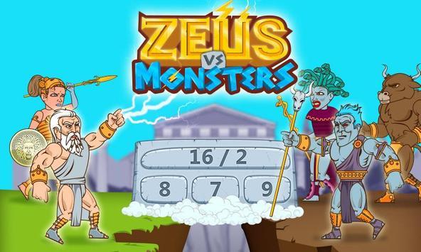 Math Games - Zeus vs. Monsters poster