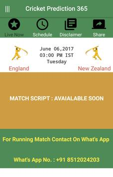 Cricket Prediction apk screenshot