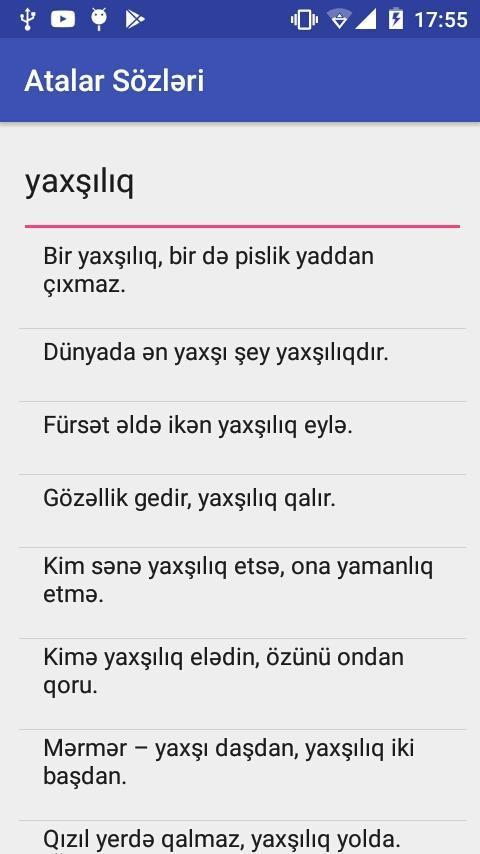 Android Icin Atalar Sozləri Apk Yi Indir