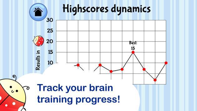 Brain Trainer with Ladybug apk screenshot