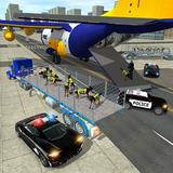 Police Airplane Dog Transport