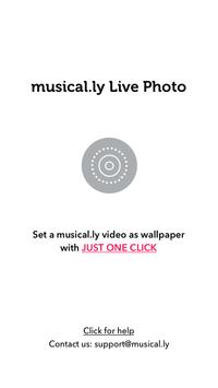 musical.ly Live Photo Poster