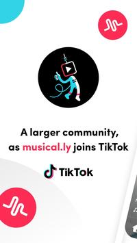 TikTok- بما فيه musical.ly الملصق