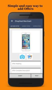 Zhop Deal Merchant apk screenshot