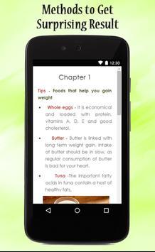 Tips For Easy Weight Gain apk screenshot