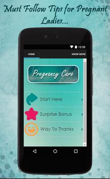 Pregnancy Care Tips poster