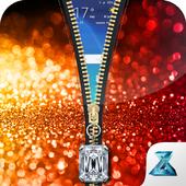 Glitter Zipper Screen Lock icon