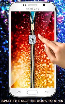 Glitter Zipper Screen Lock poster