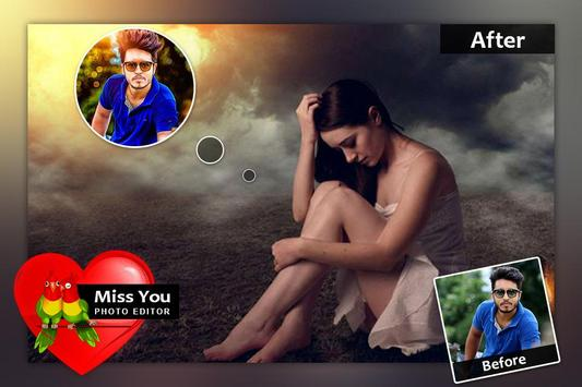 Miss You Photo Frame screenshot 1