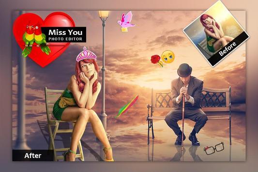 Miss You Photo Frame screenshot 3