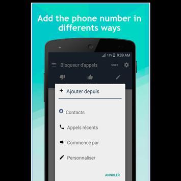 blocage d'appel liste noire screenshot 1
