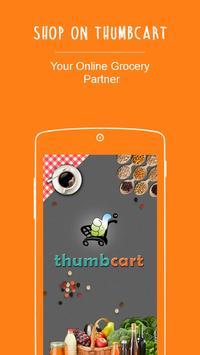thumbcart - online grocery poster
