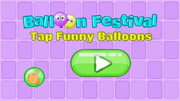 Balloon Festival - Tap Funny Balloons poster