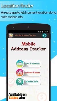Live Mobile address tracker poster