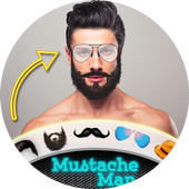 Men Beard Hairstyle Photo Editor icon