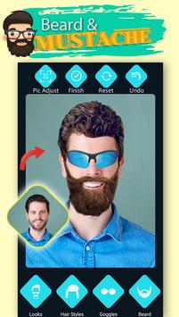 Men Beard Hairstyle Photo Editor poster