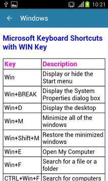 Computer Shortcut Keys Guide screenshot 4