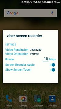 Ziner HD simple screen recorder - (No Root) apk screenshot