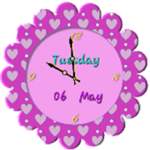 Lovely Flower Clock Widget icon