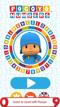 Pocoyo Numbers 1, 2, 3 Free poster