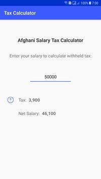 Afghan Tax Calculator poster