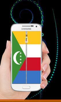 Comoros flag zip Lock Screen screenshot 4