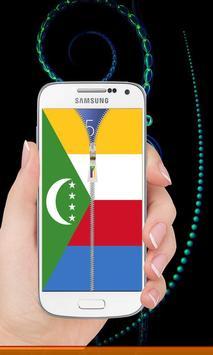 Comoros flag zip Lock Screen screenshot 5