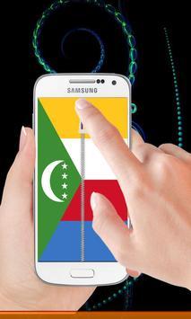 Comoros flag zip Lock Screen poster