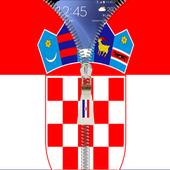 Croatia flag zip Lock Screen icon