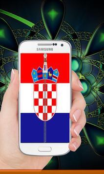 Croatia flag zip Lock Screen screenshot 4