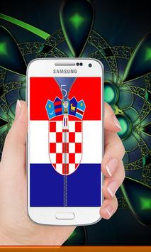 Croatia flag zip Lock Screen screenshot 5
