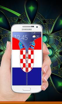 Croatia flag zip Lock Screen screenshot 6