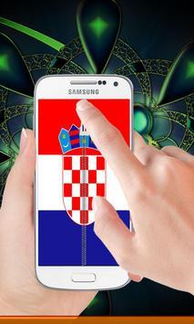 Croatia flag zip Lock Screen poster