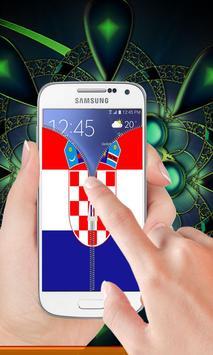 Croatia flag zip Lock Screen screenshot 1