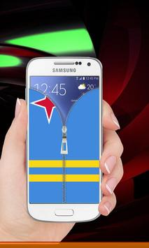 Aruba flag zipper Lock Screen screenshot 7
