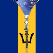 Barbados flag zip Lock Screen icon