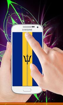 Barbados flag zip Lock Screen poster