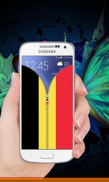 Belgium flag zip Lock Screen screenshot 7