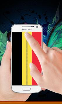 Belgium flag zip Lock Screen poster