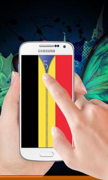 Belgium flag zip Lock Screen screenshot 1