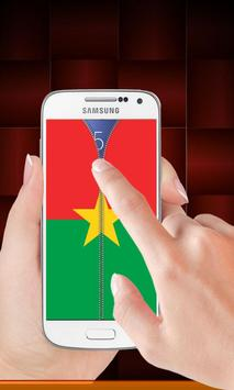 Burkina Faso flag zip Lock screenshot 1