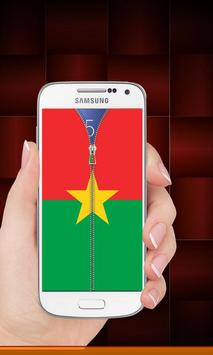 Burkina Faso flag zip Lock screenshot 7