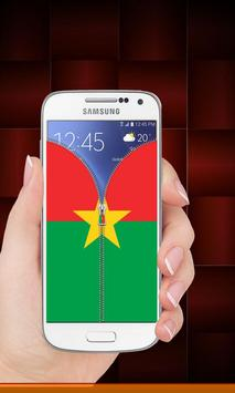 Burkina Faso flag zip Lock screenshot 8
