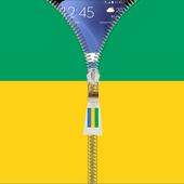 Gabon flag zipper Lock Screen icon