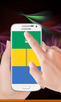 Gabon flag zipper Lock Screen poster
