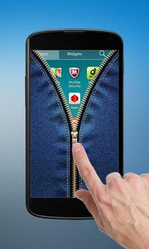 Jeans Zipper Lock Screen poster