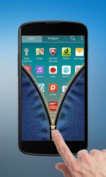 Jeans Zipper Lock Screen apk screenshot