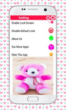 Zipper lock screen teddy bear screenshot 5