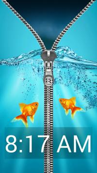 Aquarium Zipper Lock Screen screenshot 1